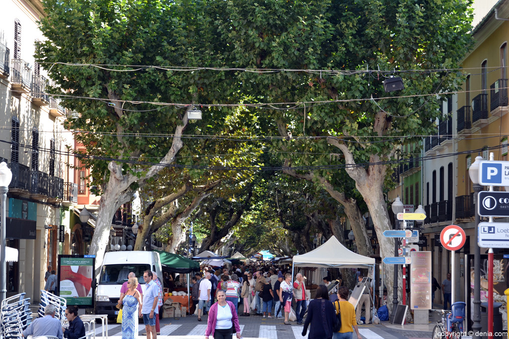 Hovedgaten Calle Marqués de Campo i Denia