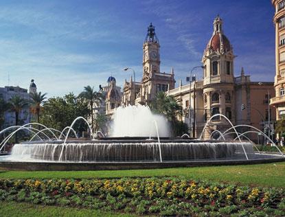 Plaza del Ayuntamiento i Valencia