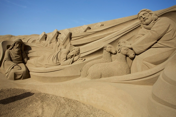 Sandslott stranden Las Canteras Gran Canaria