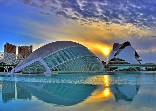 The City of Arts and Sciences i Valencia