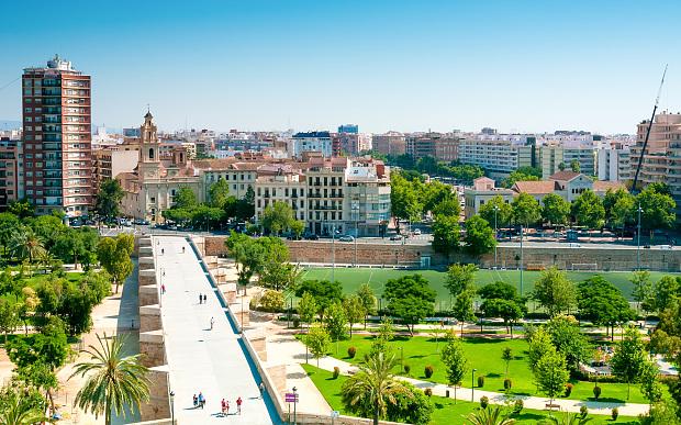 Turia Garden i Valencia