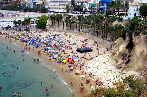 Strand Benidorm Cala Mal Pas i Alicante