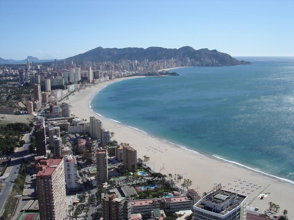 Strand Benidorm Playa Poniente i Alicante