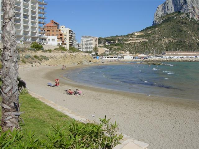 Strand Calpe Playa Cantal Roig i Alicante