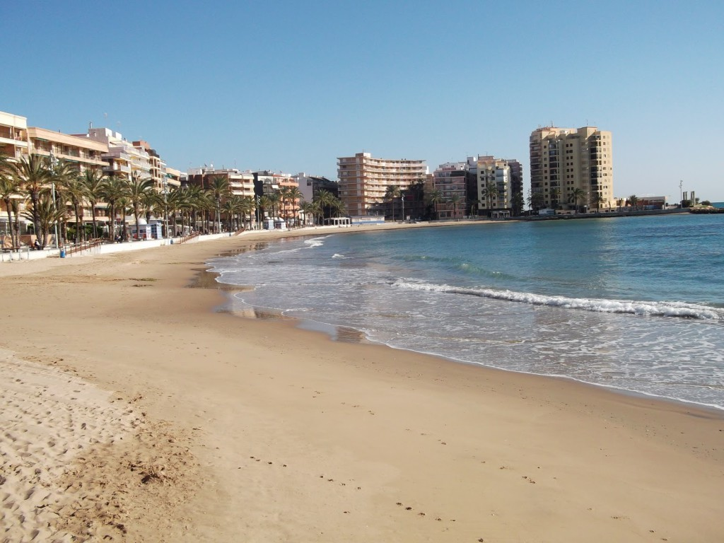 Strand El Cura Torrevieja i Alicante