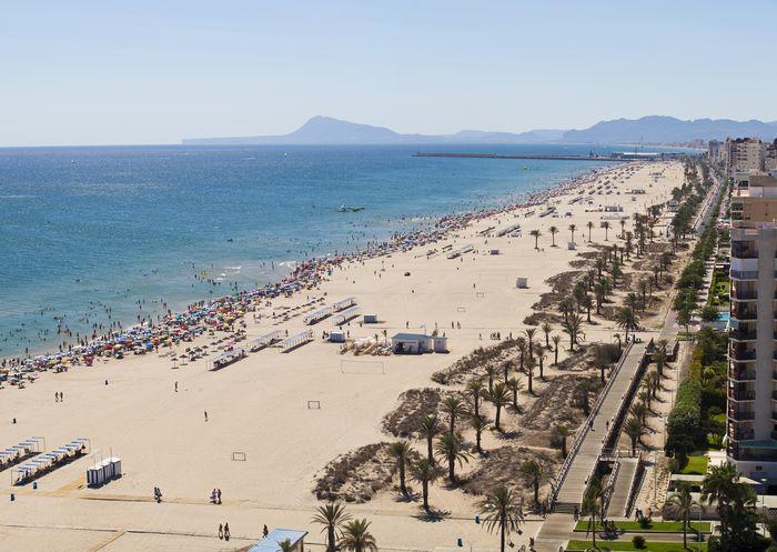 Strand Gandía Playa Nord i Alicante