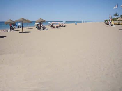 Strand Las Marinas Denia strender i Alicante