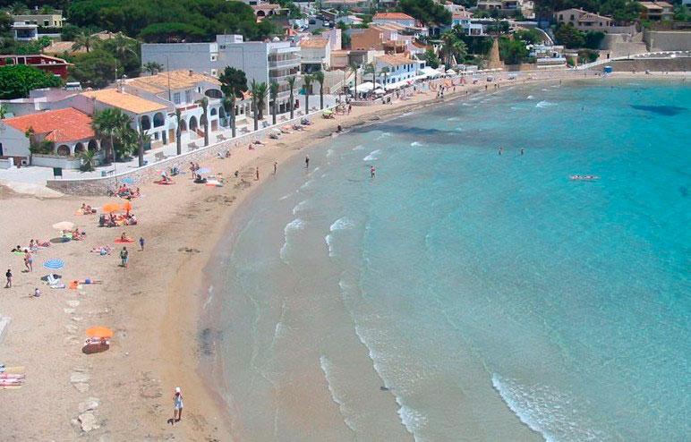 Strand Moraira del Portet i Alicante