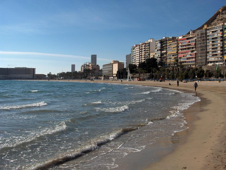 Strand Playa del Postiguet i Alicante