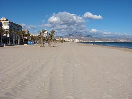 Strand San Juan Playa i Alicante