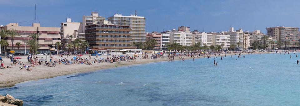 Strand Playa Levante i Santa Pola i Alicante