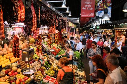 Sant Antoni Market i Barcelona