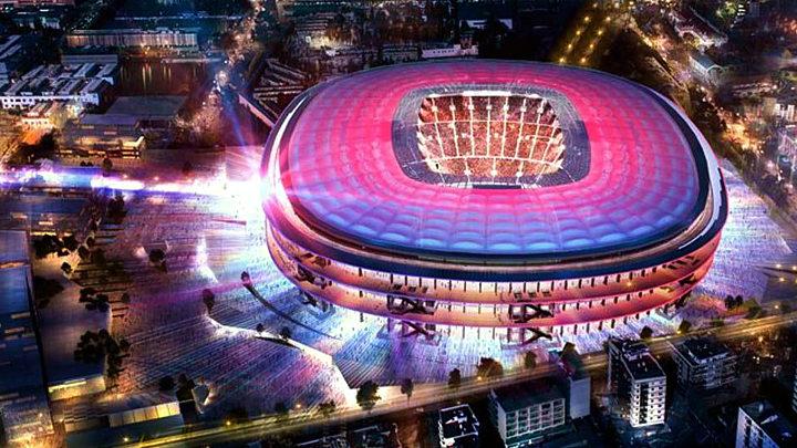 Camp Nou Stadium i Barcelona