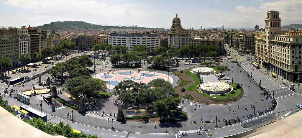Plaza Catalunya i Barcelona