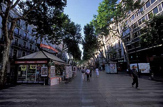 Rambla de Catalunya i Barcelona