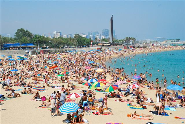 Mar bella strand i Barcelona