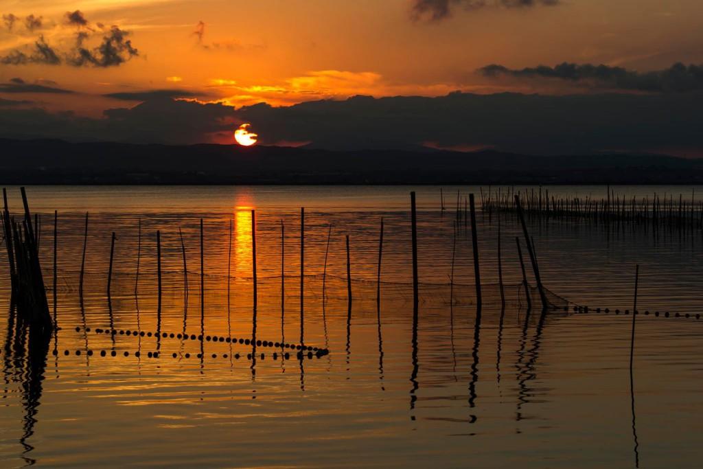 Solnedgang i Albufera