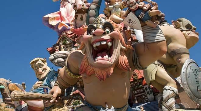 Fallas festival i Valencia
