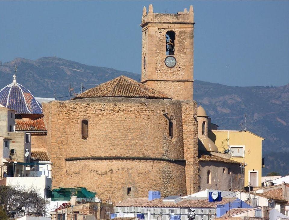 Gotiske katolske kirken i Villajoyosa