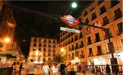 Chueca distriktet i Madrid