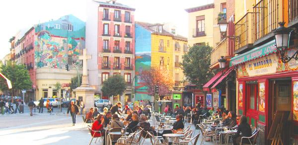 La Latina distriktet i Madrid