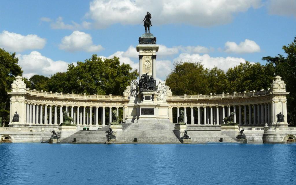 Retiro distriktet i Madrid