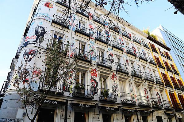 Salesas distriktet i Madrid