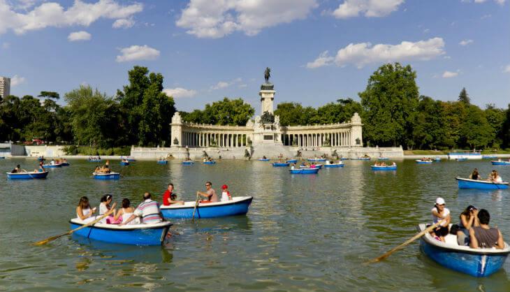 Parque del Retiro i Madrid