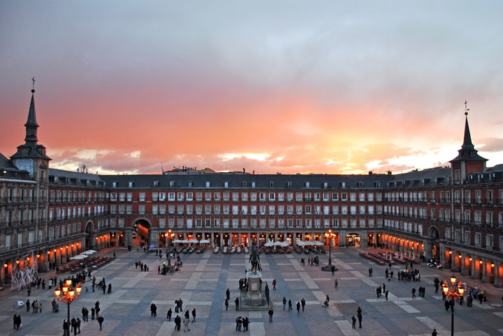 Plaza Mayor i Madrid