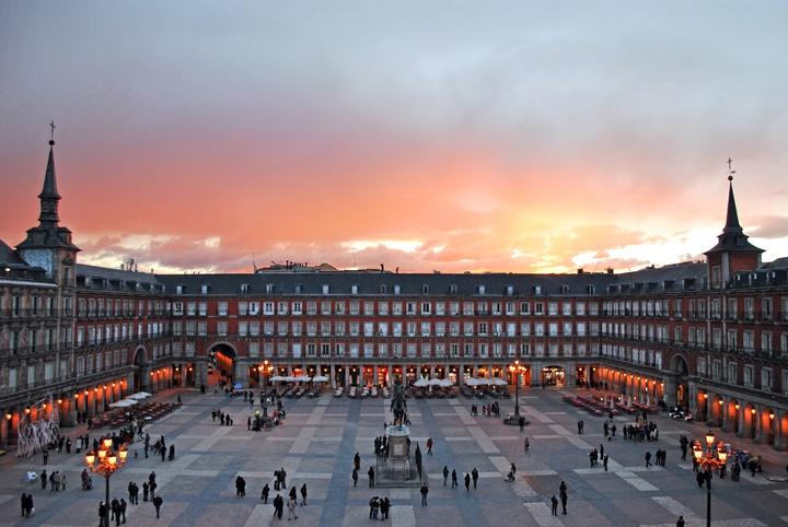 Plaza Mayor i Madrid