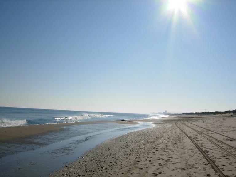 Playa La Devesa i Valencia