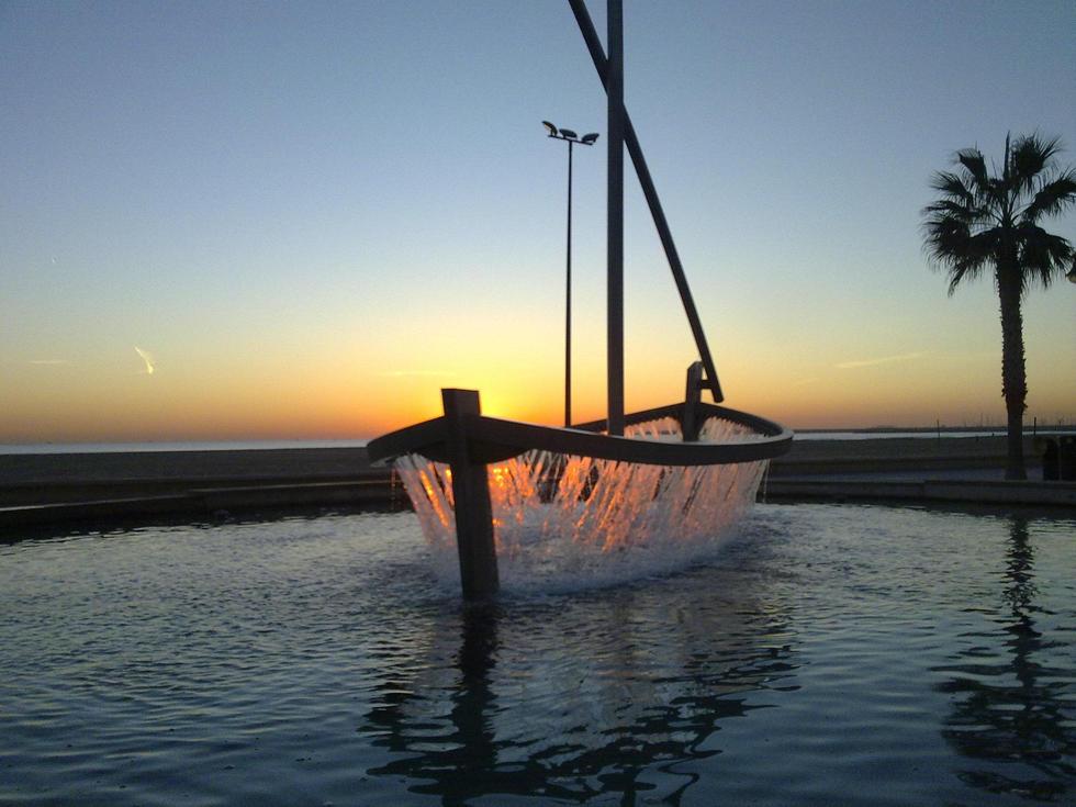 Playa Malvarrosa i Valencia