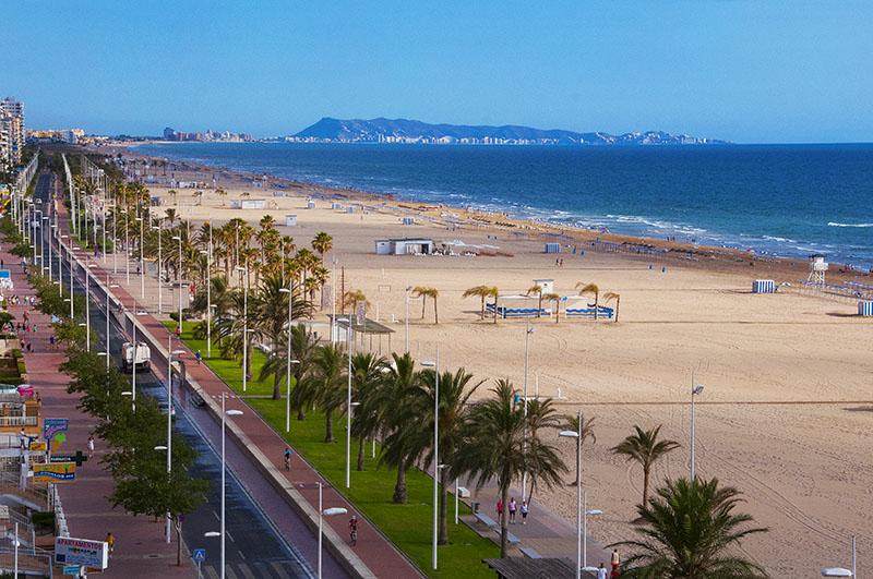 Playa de Gandia i Valencia
