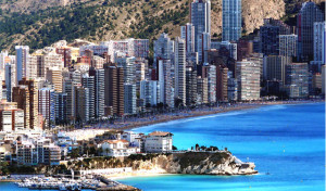 Temperaturen i Benidorm