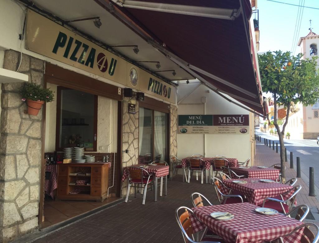 Restaurant Pizza 4U i Alfaz del Pi