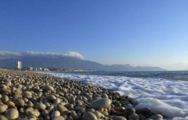 Strand i Alfaz del Pi i Spania