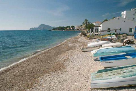 Stranden Platges de l`olla i Altea