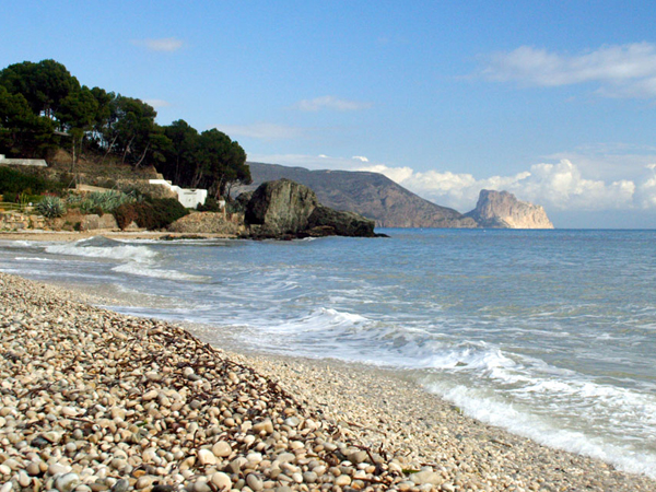 Stranden Playa Cap Negret i Altea