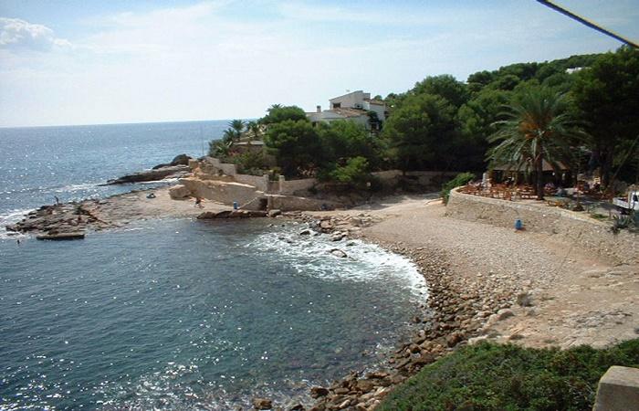Stranden Cala Andrago i Moraira