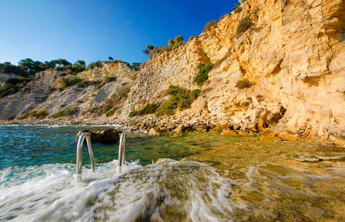 Stranden Cap Blanc i Moraira