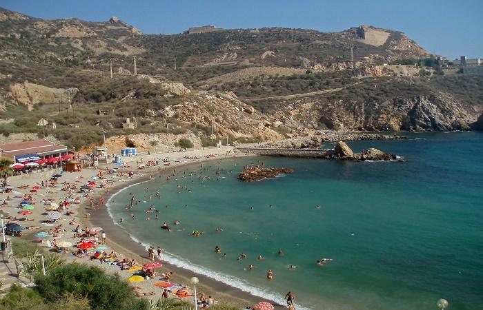 Stranden Cala Cortina i Murcia