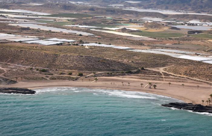 Stranden Percheles i Murcia