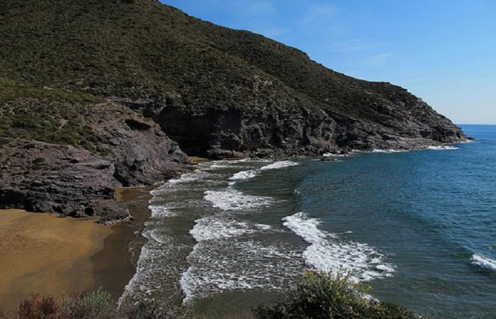 Stranden Playa Las Mulas i Murcia