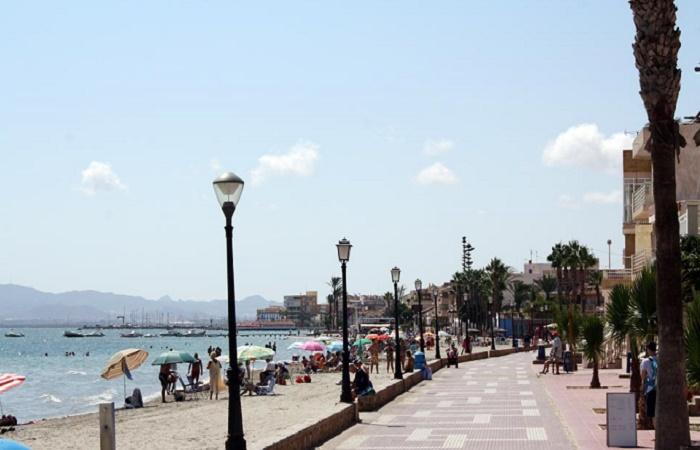 Stranden Playa Las Palmeras i Murcia