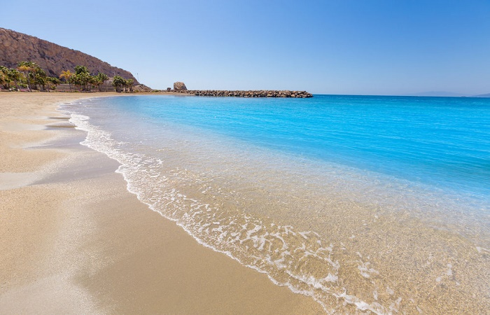 Stranden Playa de Poniente Aguilas i Murcia