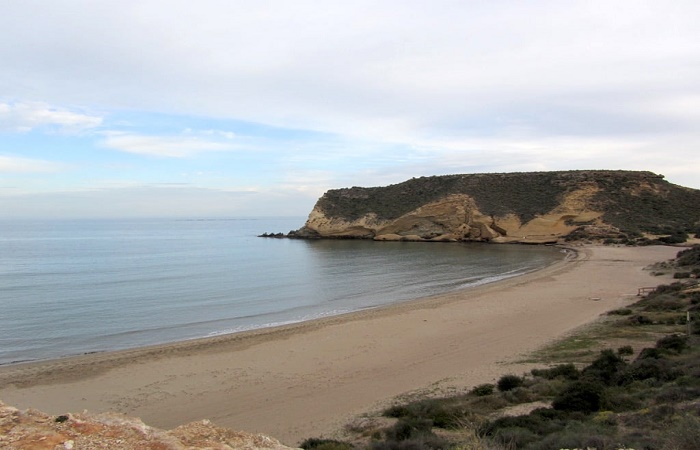 Stranden Playa la Carolina i Murcia