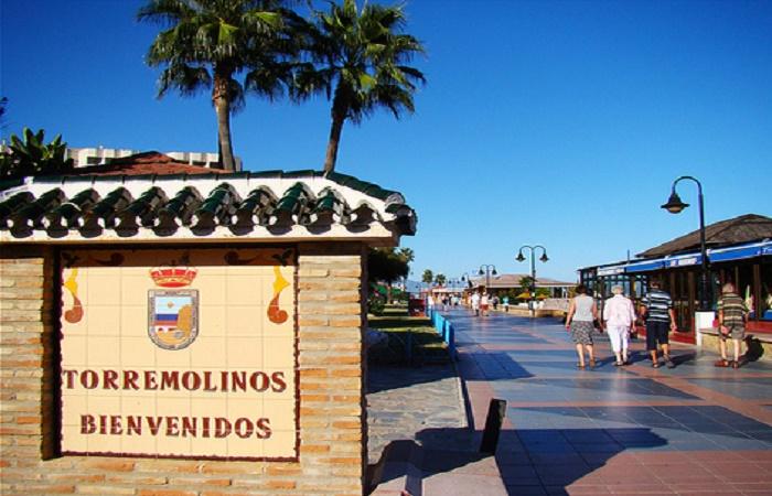 Strand promenaden i Torremolinos
