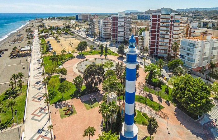 Strandpromenaden i Torre del Mar