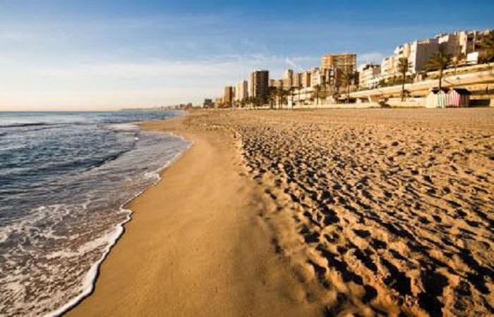 Stranden Playa de L´Horta Mutxavista i Alicante