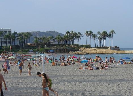 Stranden Playa El Arenal i Javea